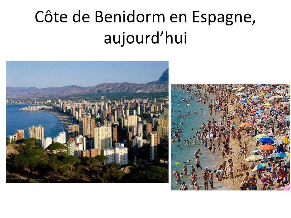 Côte de Benidorm en Espagne, aujourdhui