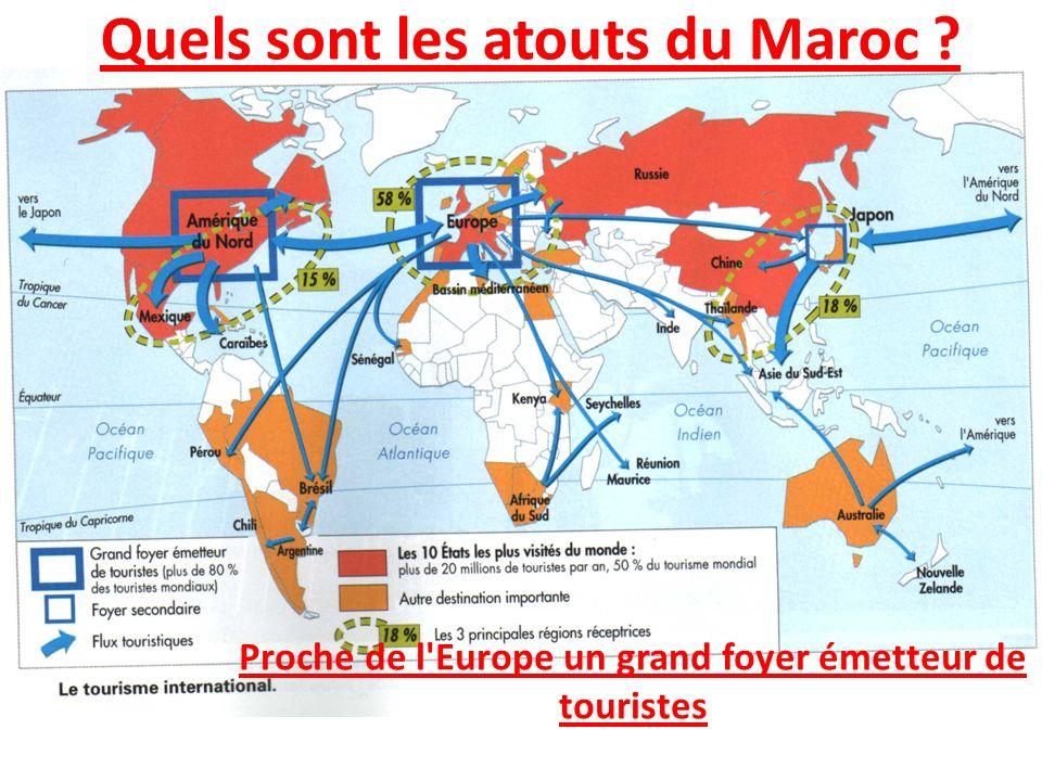 Quels sont les atouts du Maroc ? Proche de l'Europe un grand foyer émetteur de touristes