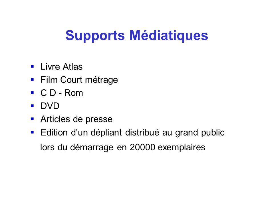 Livre Atlas Film Court métrage C D - Rom DVD Articles de presse Edition dun dépliant distribué au grand public lors du démarrage en 20000 exemplaires