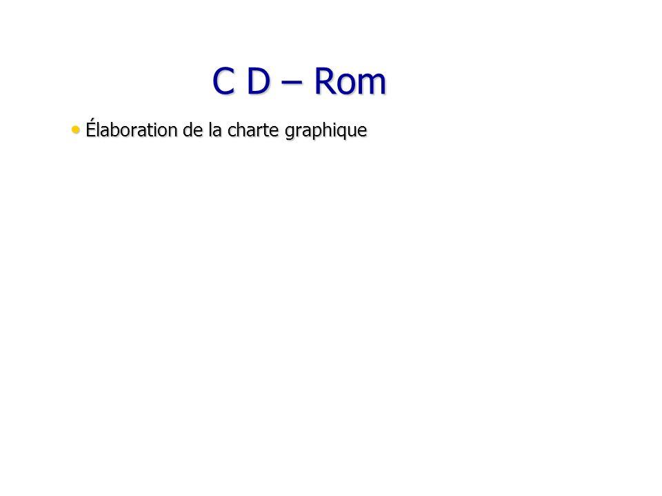 C D – Rom C D – Rom Élaboration de la charte graphique Élaboration de la charte graphique