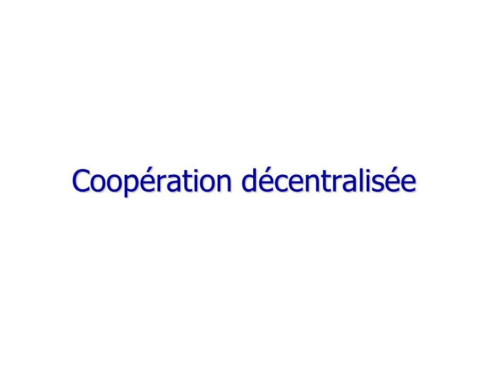 Coopération décentralisée Coopération décentralisée