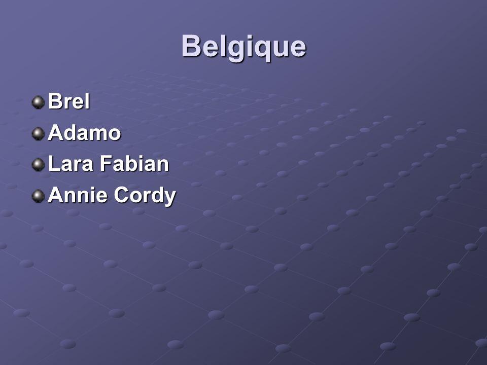 Belgique BrelAdamo Lara Fabian Annie Cordy
