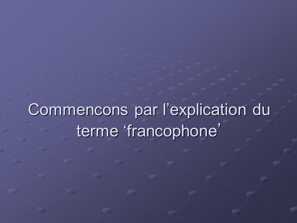 Mais apres cette digression revenos a notre musique francophone Je vous presenterai quelques chanteurs de territoires francophones de mon choix.