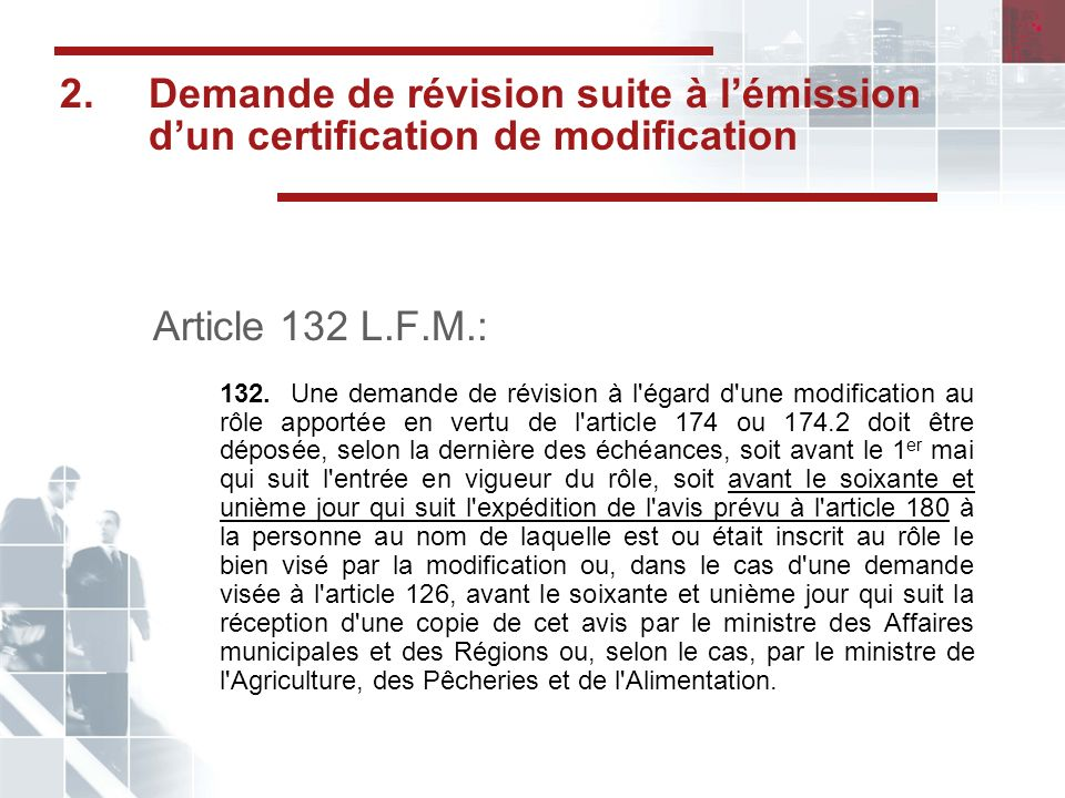 Critères de larticle 106 L.J.A.