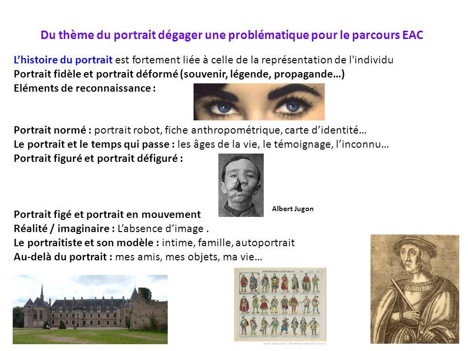 Du thème du portrait dégager une problématique pour le parcours EAC Lhistoire du portrait est fortement liée à celle de la représentation de l'individ