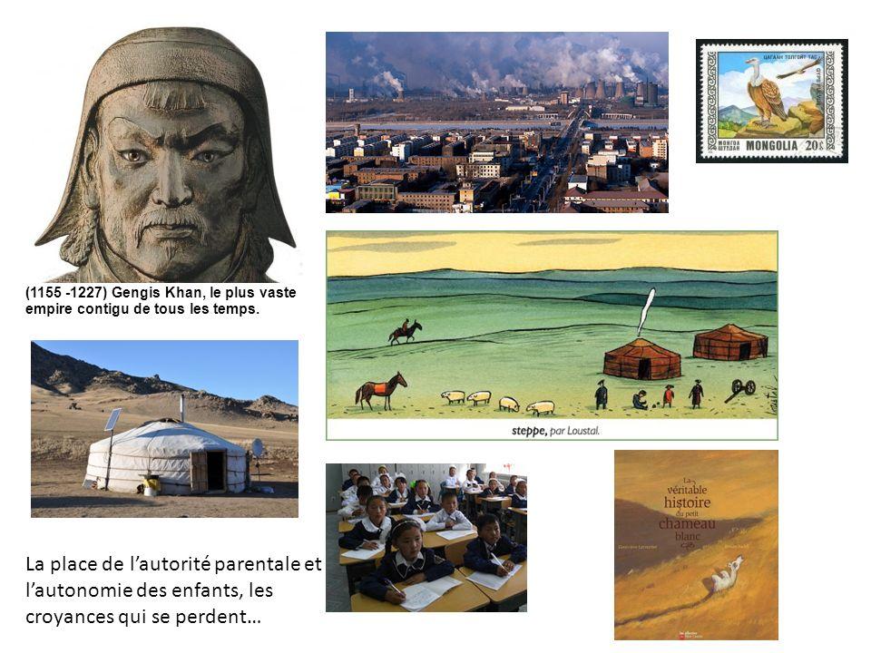 (1155 -1227) Gengis Khan, le plus vaste empire contigu de tous les temps. La place de lautorité parentale et lautonomie des enfants, les croyances qui