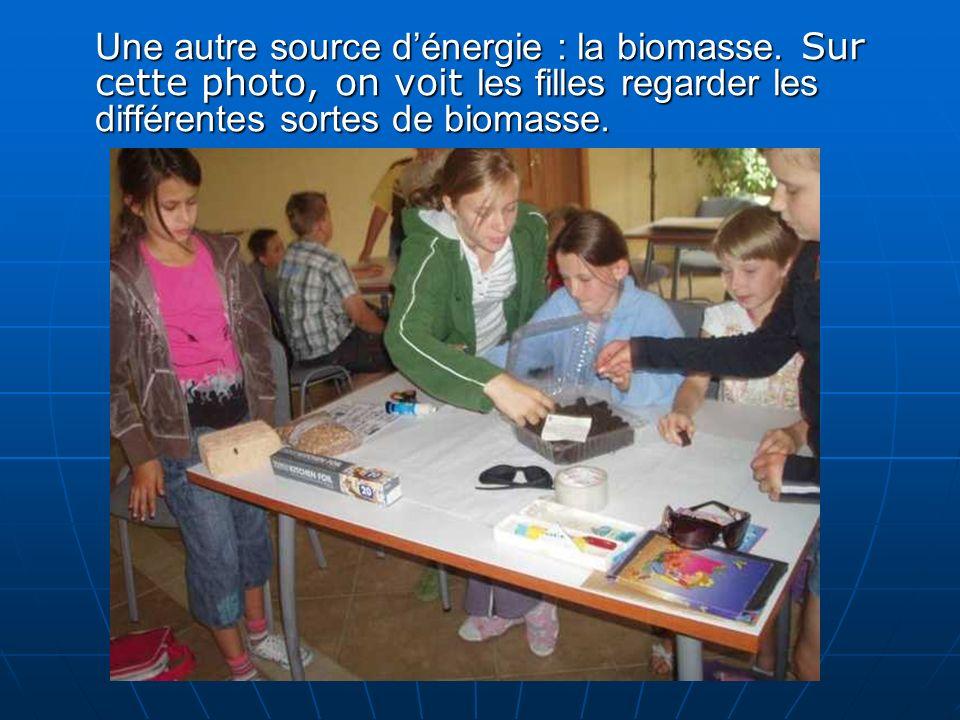 Une autre source dénergie : la biomasse.