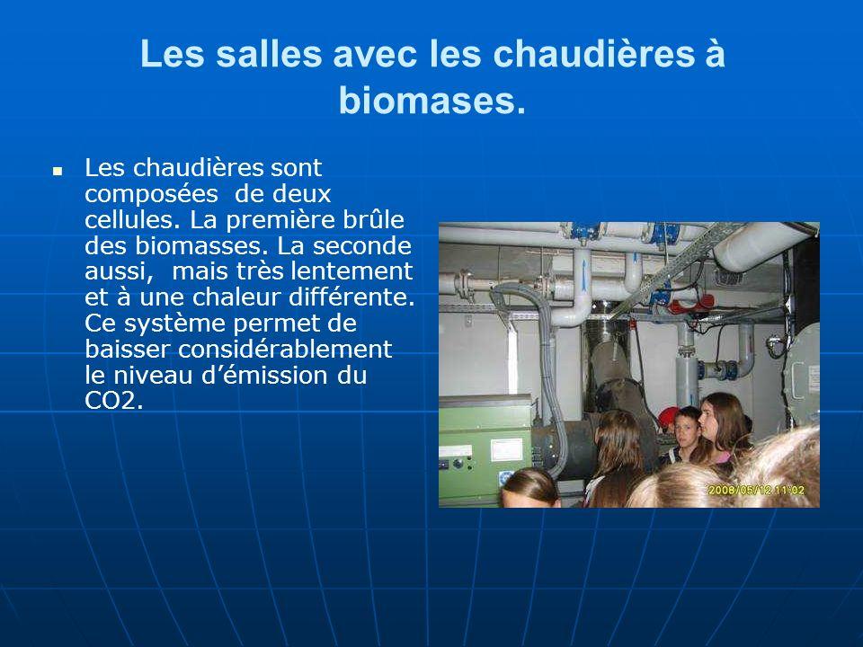 Les salles avec les chaudières à biomases. Les chaudières sont composées de deux cellules.