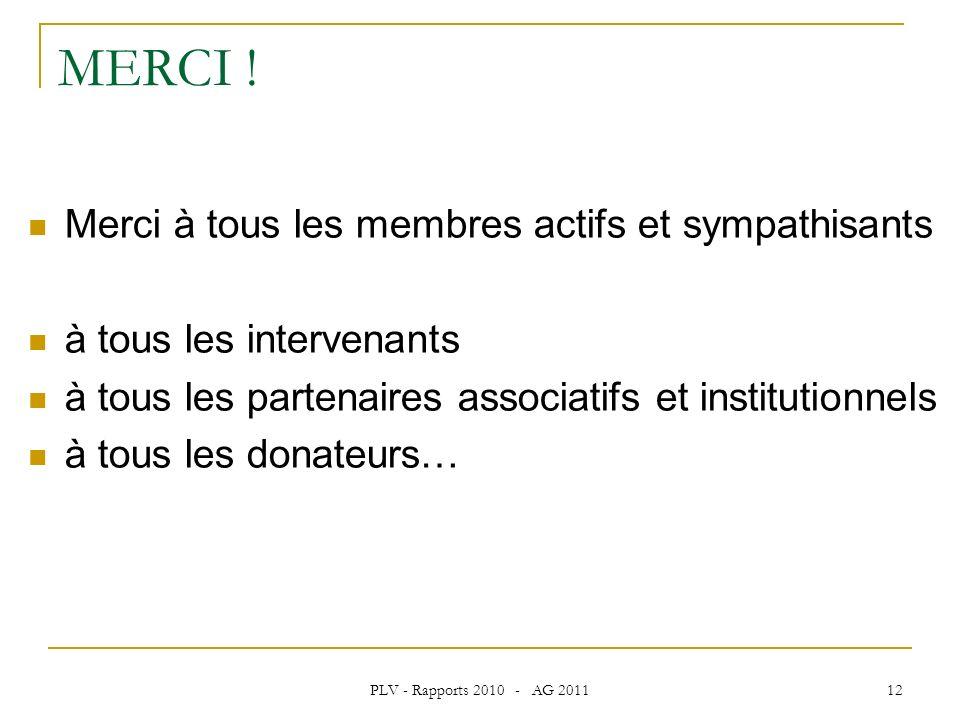 PLV - Rapports 2010 - AG 2011 12 MERCI .