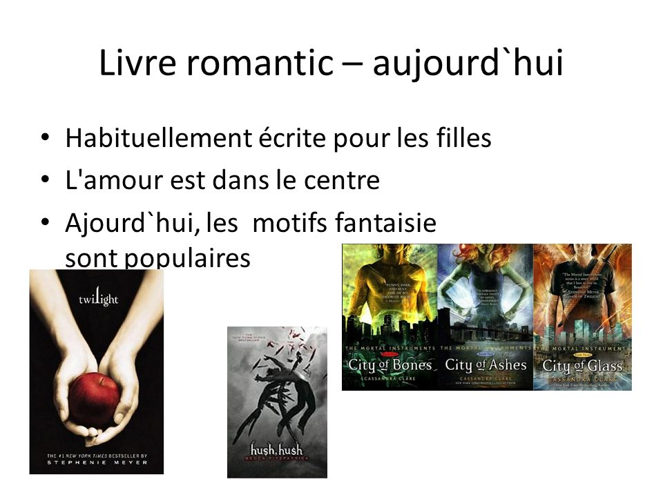 Livre romantic – aujourd`hui Habituellement écrite pour les filles L amour est dans le centre Ajourd`hui, les motifs fantaisie sont populaires