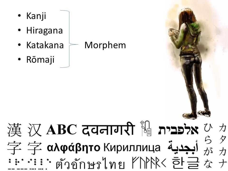 Kanji Hiragana Katakana Morphem Rōmaji