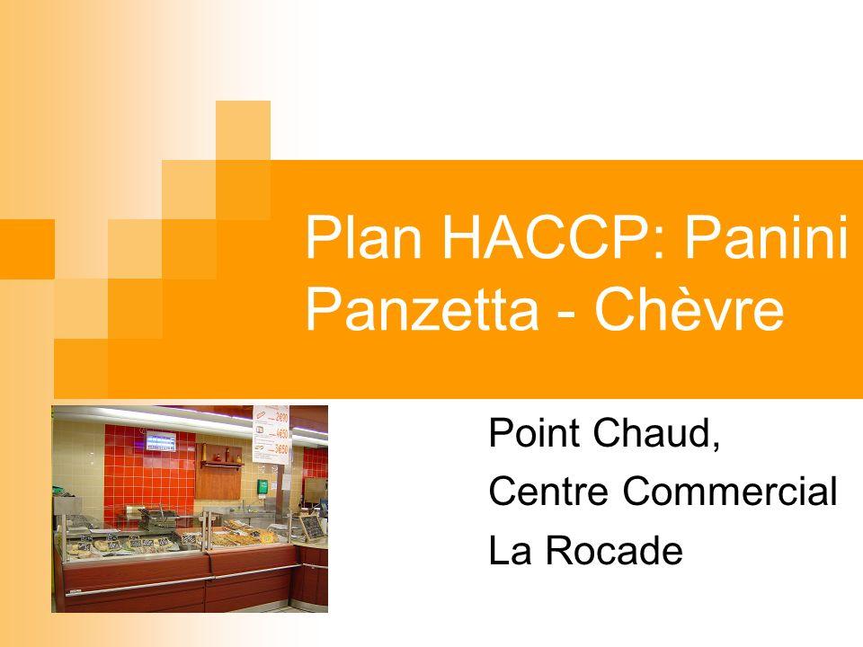 Plan HACCP: Panini Panzetta - Chèvre Point Chaud, Centre Commercial La Rocade
