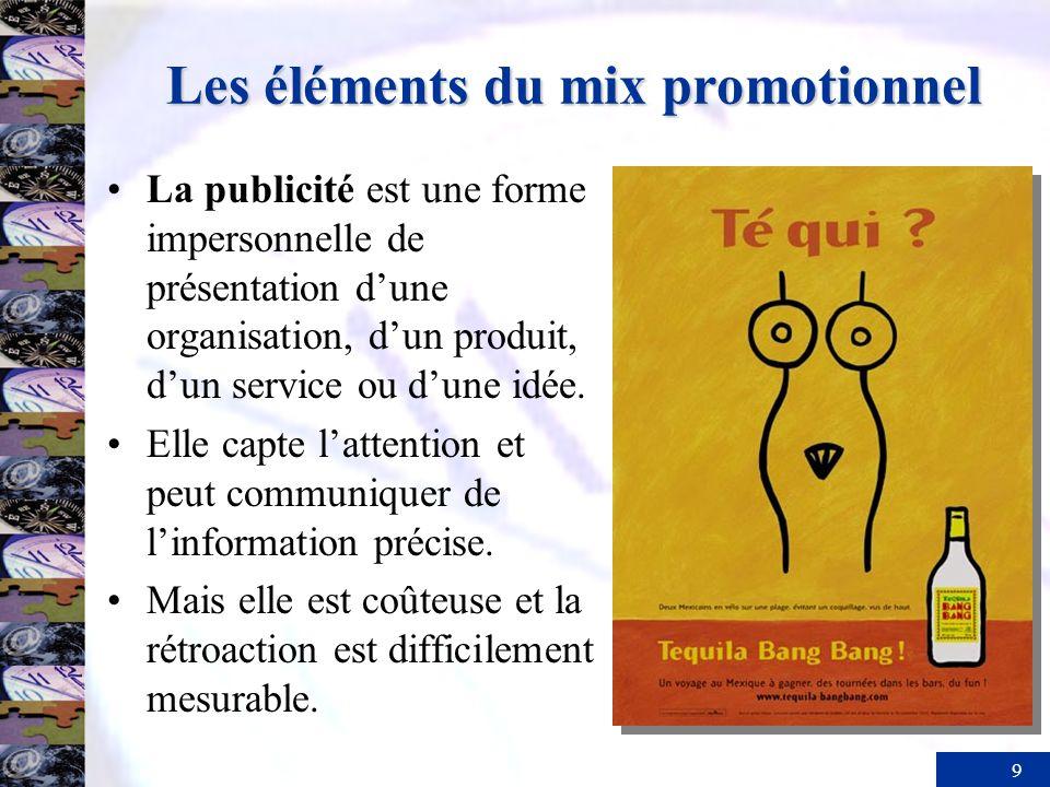 10 Les éléments du mix promotionnel La vente personnelle se définit comme une communication bidirectionnelle entre un acheteur et un vendeur.