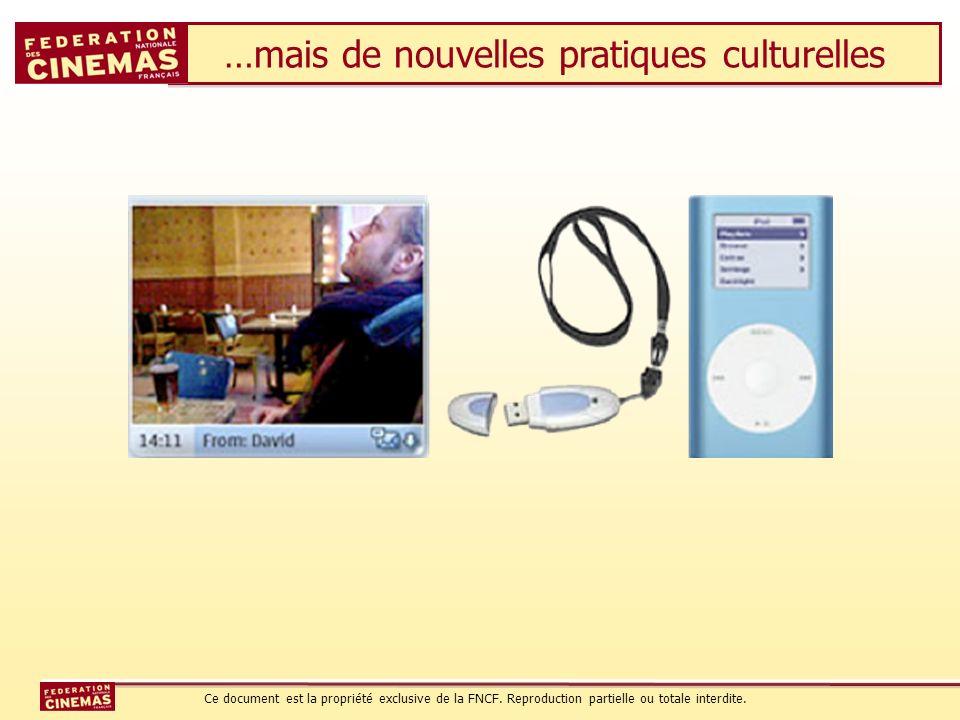 …mais de nouvelles pratiques culturelles Ce document est la propriété exclusive de la FNCF. Reproduction partielle ou totale interdite.