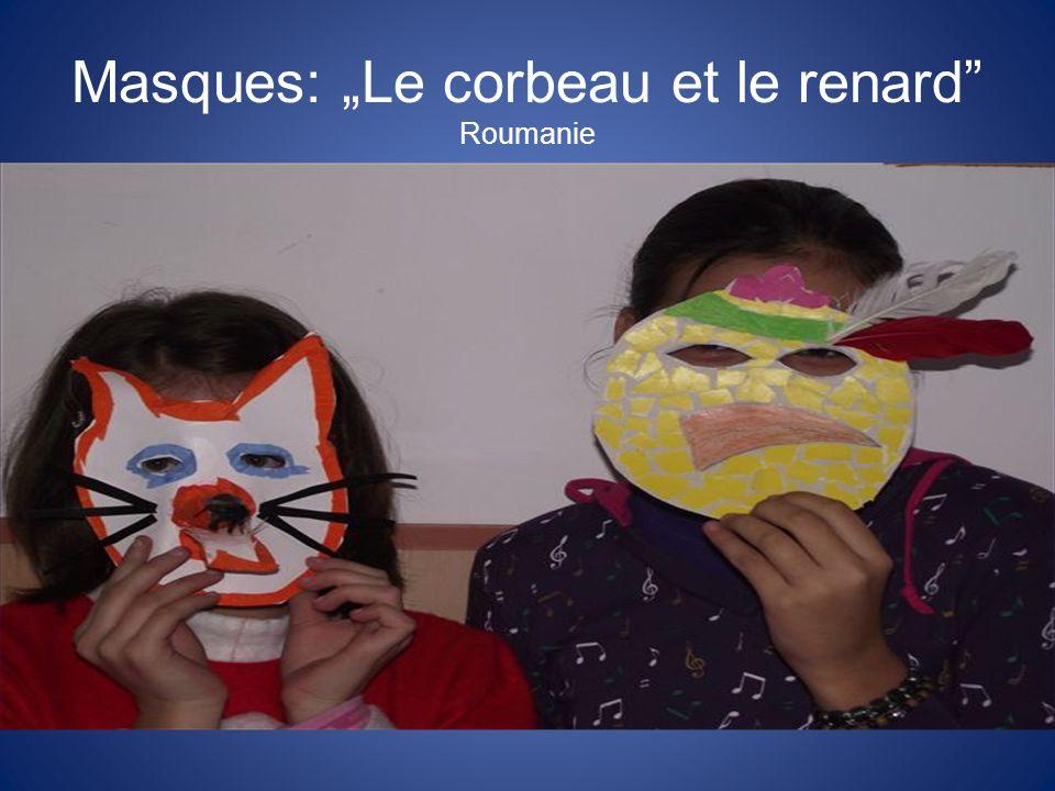 Masques: Le corbeau et le renard Roumanie