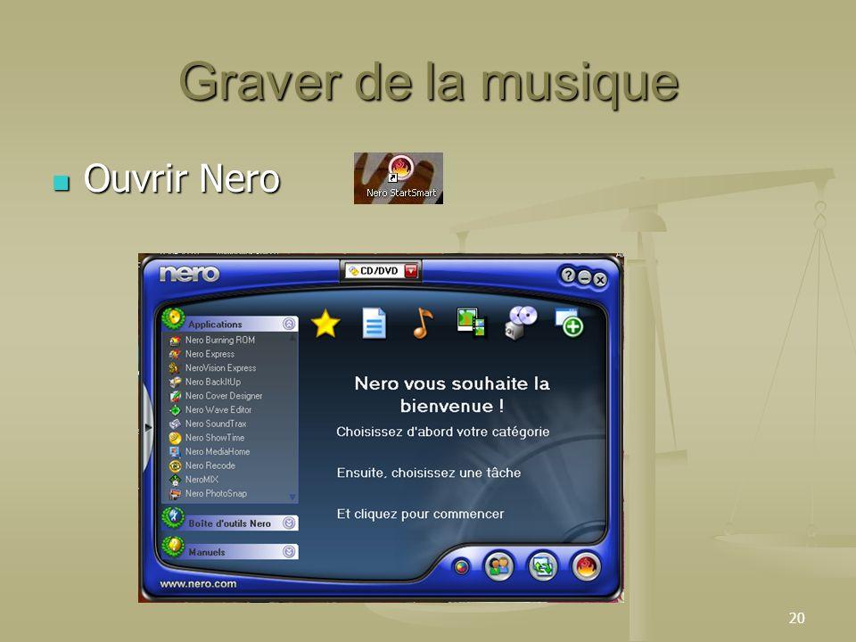 20 Graver de la musique Ouvrir Nero Ouvrir Nero