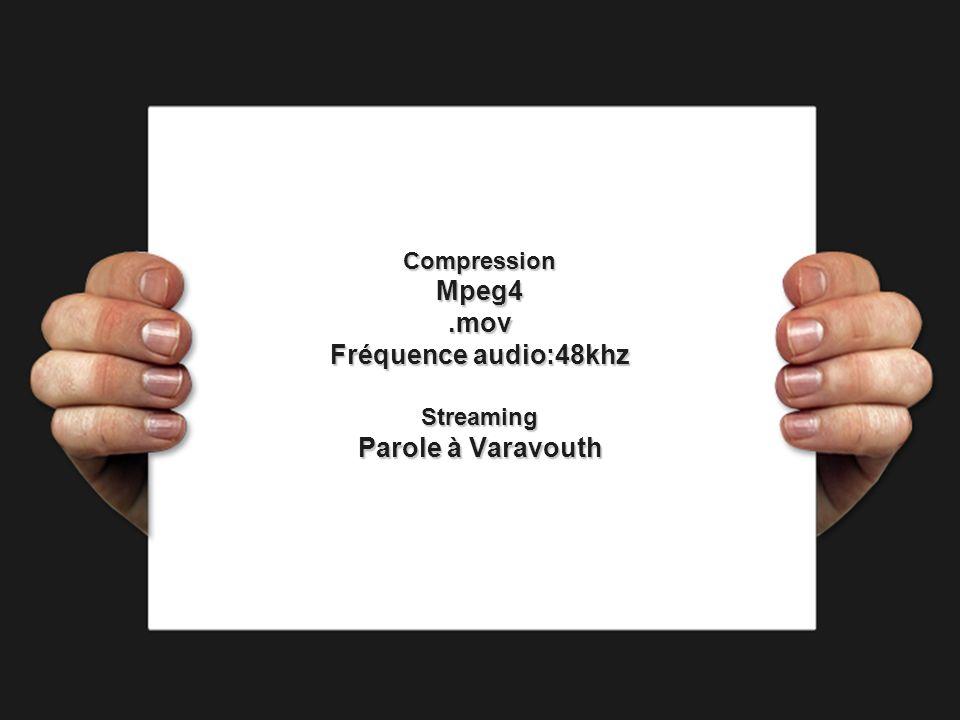 CompressionMpeg4.mov Fréquence audio:48khz Streaming Parole à Varavouth
