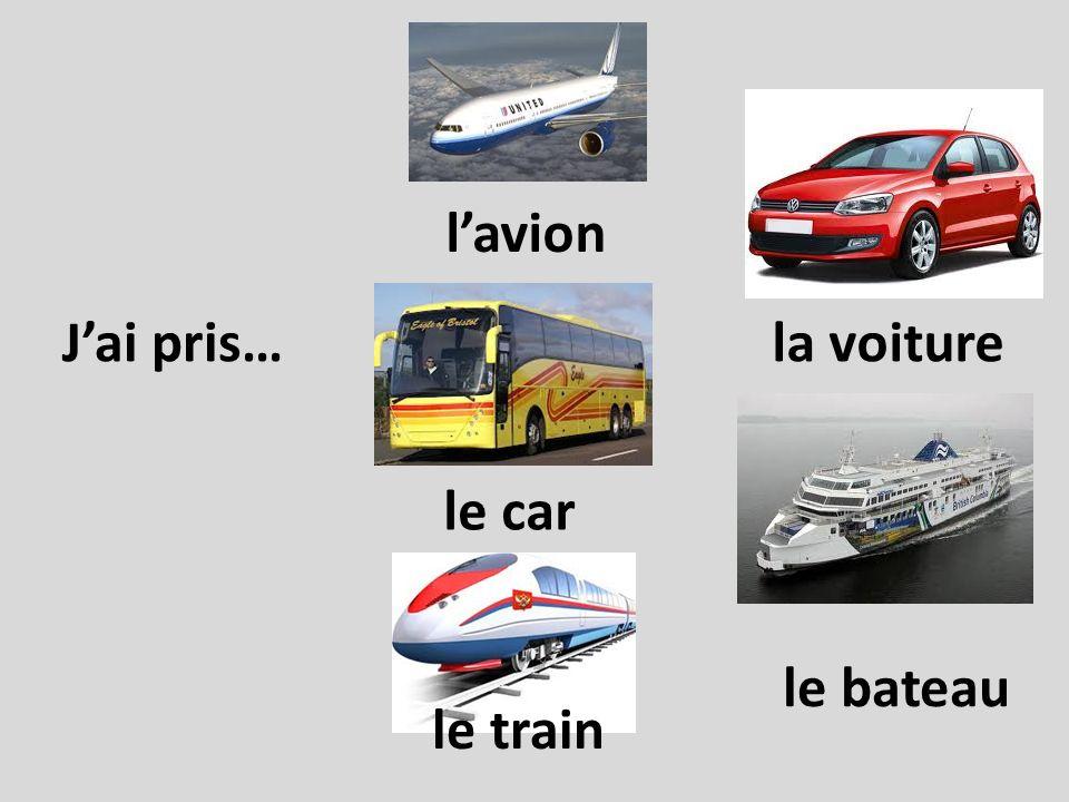 j ai fait j ai joué je suis allé Look at the past tense in French Each has a person…..