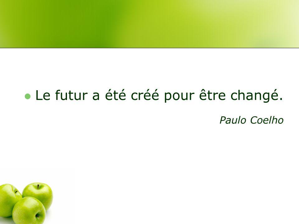 Le futur a été créé pour être changé. Paulo Coelho