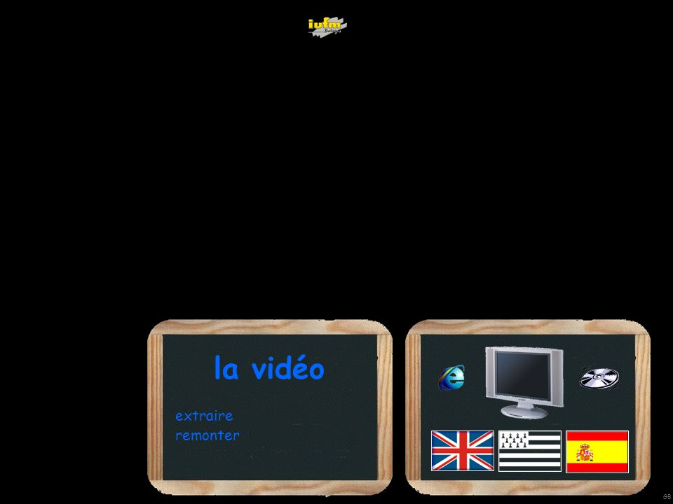 institutionnelles Didier ATTICA diffuserextraire une scène sans les sous -titres sommaire extraire une scène avec les sous -titres compresser en DivXextraire une scène avec Virtualdub compresser en DivXtélécharger une vidéo sur le Net GB wwwwwWWWWWWW au format Flash formats : Quick Time, Real Video, Vob, Windows Media Video autres … diffuser en classe WWWWWWWWW WWWWWWWWW WWWWWWWWW WWW animation Media Convert télécharger des vidéos sur Internet : autre format