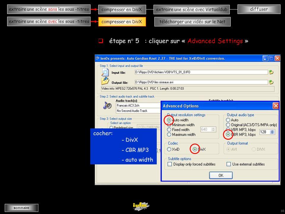 institutionnelles Didier ATTICA diffuserextraire une scène sans les sous -titres sommaire extraire une scène avec les sous -titres compresser en DivXextraire une scène avec Virtualdub compresser en DivXtélécharger une vidéo sur le Net GB AAAAAAAAAAAAAAAAAAAAAvvvvvvvvvvvvvvvvA étape n° 4 : régler le taux de compression étape suivante compresser en DivX
