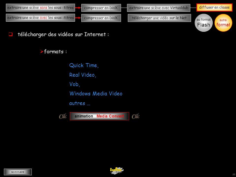 institutionnelles Didier ATTICA diffuserextraire une scène sans les sous -titres sommaire extraire une scène avec les sous -titres compresser en DivXextraire une scène avec Virtualdub compresser en DivXtélécharger une vidéo sur le Net GB autre format AAAAAAAAA télécharger une vidéo sur le Net étape n° 2 : rechercher la vidéo (ex : pub Seat) étape n° 1 : avec le navigateur FireFox ouvrir le serveur vidéo : étape n° 3 : télécharger la vidéo étape n° 4 : convertir votre vidéo au format MPEG ouvrir le logiciel FLV-Converter wwwwwwww au format Flash pour exporter sur le disque dur multimédia externe cocher le codec MPEG 1 enregistrer le fichier vidéo importer le fichier vidéo