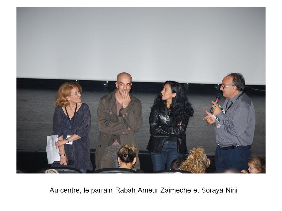 Au centre, le parrain Rabah Ameur Zaimeche et Soraya Nini