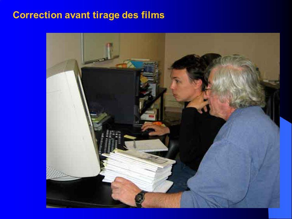 Réalisation du film Vérification du cahier de 32 pages