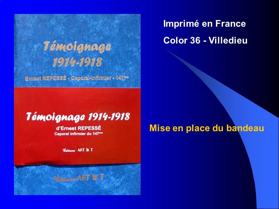 Mise en place du bandeau Imprimé en France Color 36 - Villedieu