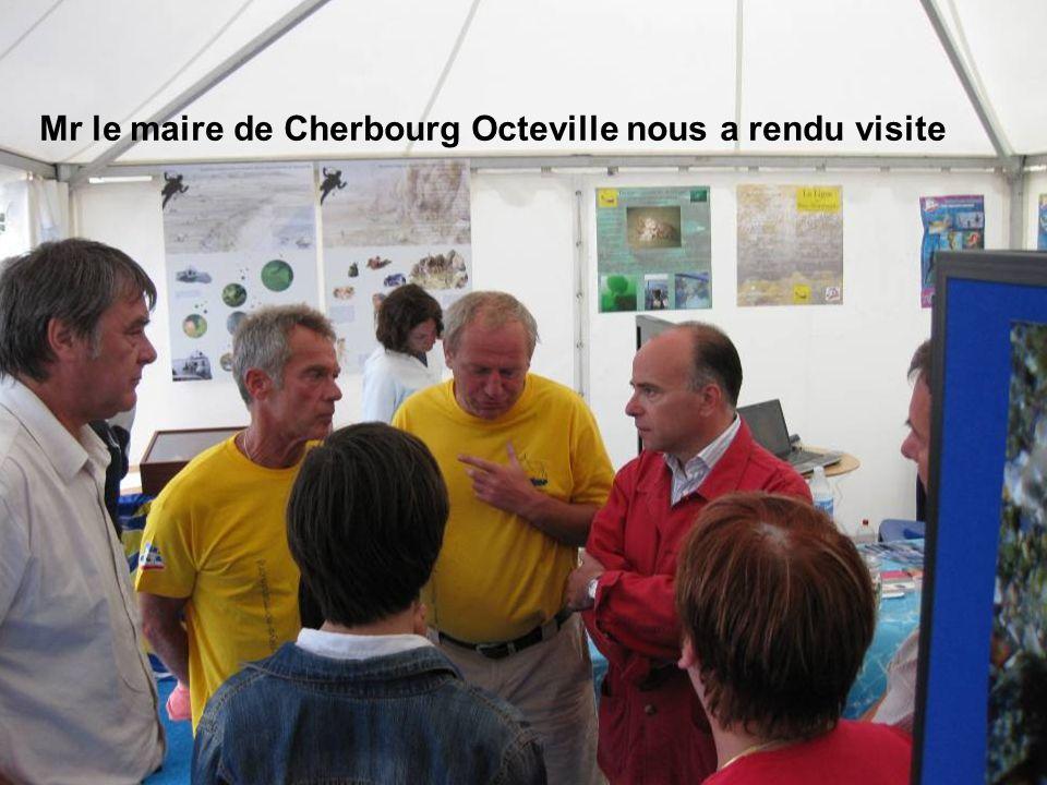 Mr le maire de Cherbourg Octeville nous a rendu visite
