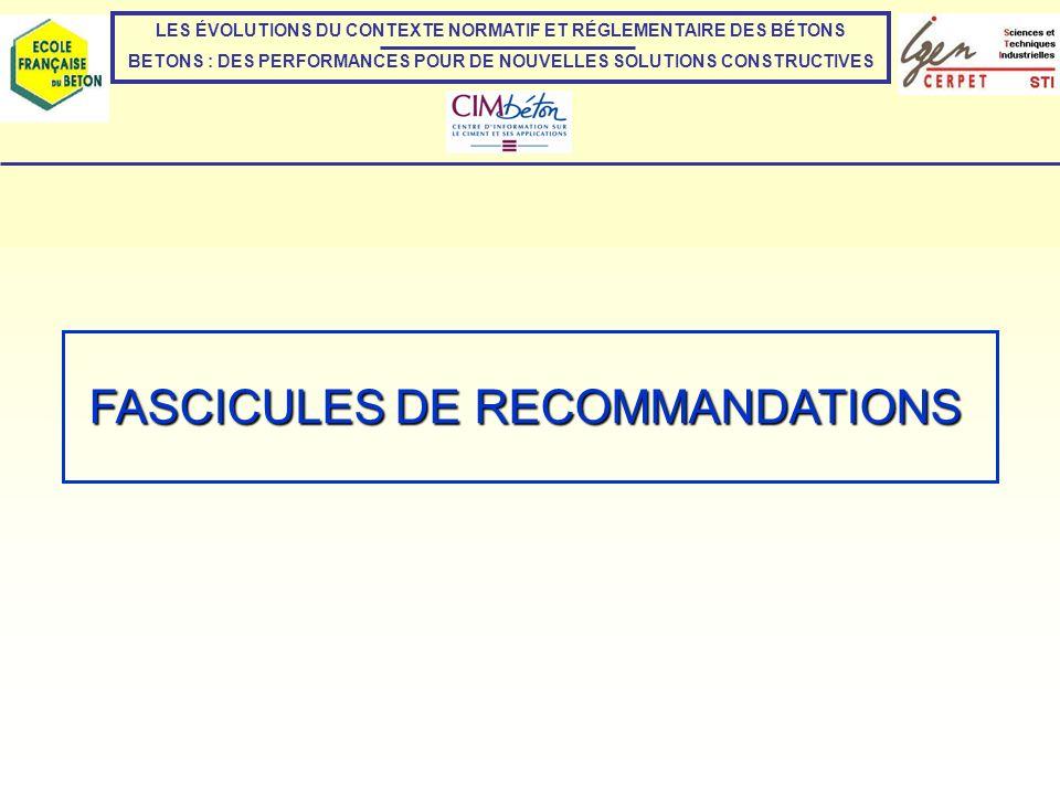 FASCICULES DE RECOMMANDATIONS CARTE DE GEL (CF.
