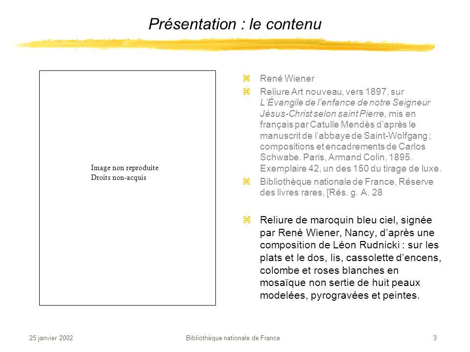 25 janvier 2002 Bibliothèque nationale de France 4 zEugène Delacroix zFaust dans son cabinet.
