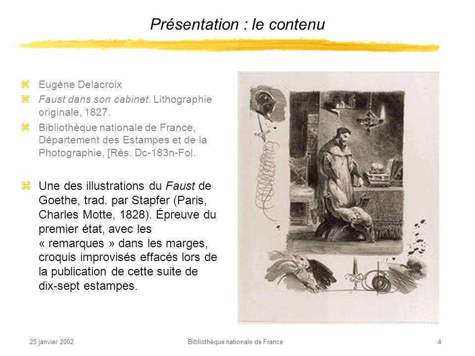 25 janvier 2002 Bibliothèque nationale de France 15 zLœuvre de larchitecte Henri Labrouste permet de résoudre les difficultés de place dont souffre la Bibliothèque impériale depuis de nombreuses années.