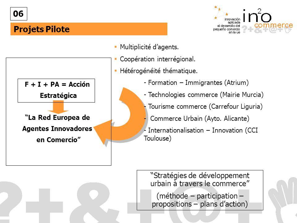 Projets Pilote 06 Multiplicité dagents.Coopération interrégional.