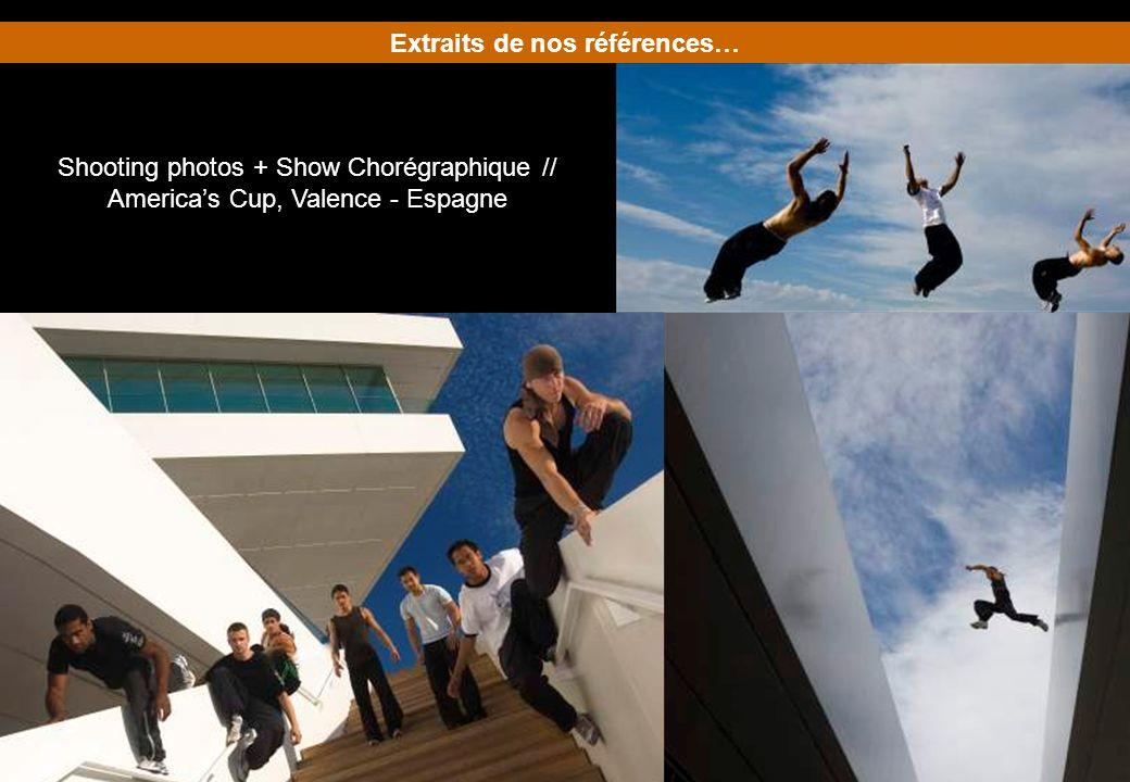 Extraits de nos références… Shooting photos + Show Chorégraphique // Americas Cup, Valence - Espagne
