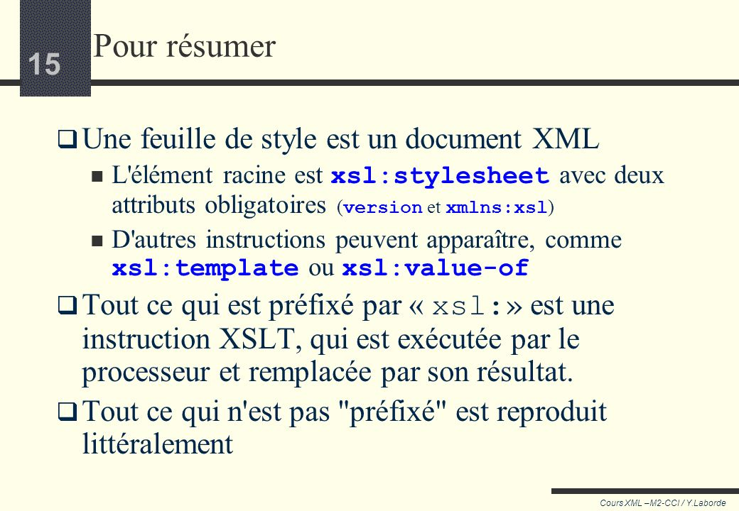 14 Cours XML –M2-CCI / Y.Laborde 14 Explications Vertigo Vertigo.gif Alfred Hitchcock 1958 Drame Etats Unis Scottie Ferguson, ancien inspecteur de pol