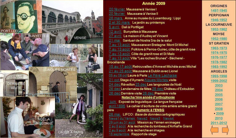 Année 2009 Natacha 1ère année d'orthophonie 20 février Maussane à Venise I 20 février Maussane à Venise II 26 mars Anne au musée du Luxembourg : Lippi