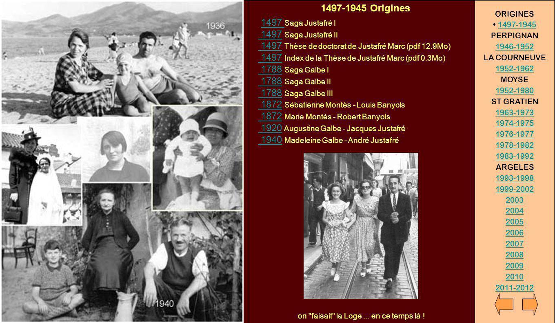 1497-1945 Origines 1497 Saga Justafré I 1497 Saga Justafré II 1497 Thèse de doctorat de Justafré Marc (pdf 12.9Mo) 1497 Index de la Thèse de Justafré