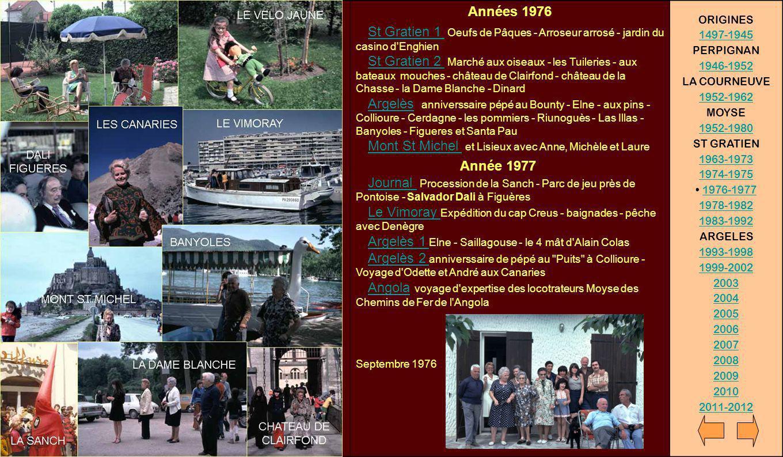 Années 1978 – 1982 31 déc.1977 sous le gui - Réveillon - au salon - au jardin 1978 St Gratien chez Bébert - La Roche Guyon - Provins 1978 le Vimoray St Cyprien d antan - Port de la Selva - avec pépé et Denègre - retour de pêche 1978 Argelès Elne - St Martin du Canigou - Col de l Ouillat et pic Neoulous - Riunoguès - Denègre au camping de Saillagouse 1978 Argelès Cargolade du groupe Aix47 - expédition spéologique aux grottes des Grandes Canalettes 1978 Moyse Les USA et Stokholm 1979 St Gratien sous le gui - sous la neige - Laure en classe des neiges - au salon, au jardin, en forêt, à Paris 1979 feu Vimoray René et Marisol à St Gratien 1979 mariage d Anne et Bernard a la mairie - la pièce montée au jardin - montage de tente 1980-82 cargolade et pétanque à St Gratien - à la vigne, Collioure, Elne, Castelnou,...