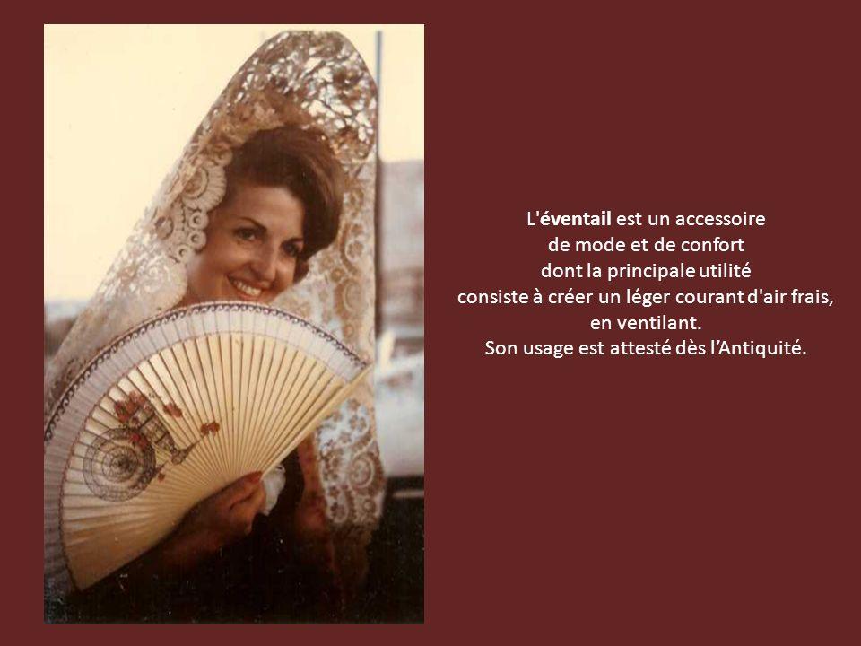 L éventail est un accessoire de mode et de confort dont la principale utilité consiste à créer un léger courant d air frais, en ventilant.