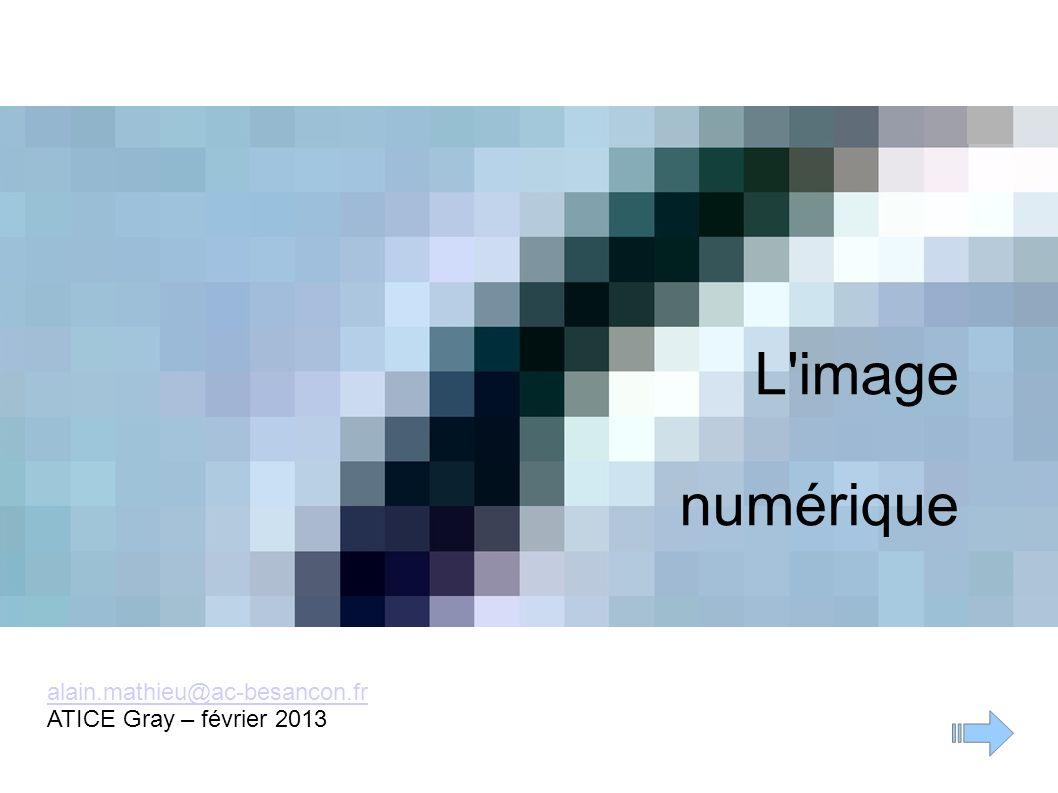 L'image numérique alain.mathieu@ac-besancon.fr ATICE Gray – février 2013