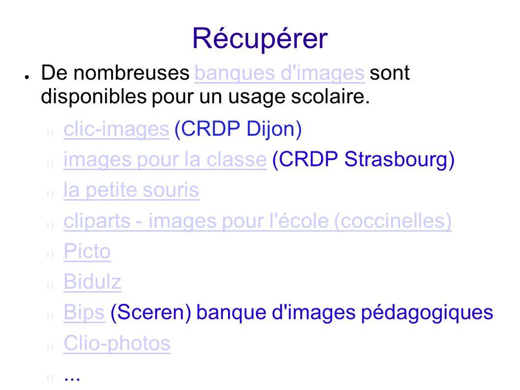 Récupérer De nombreuses banques d'images sont disponibles pour un usage scolaire.banques d'images clic-imagesclic-images (CRDP Dijon) images pour la c