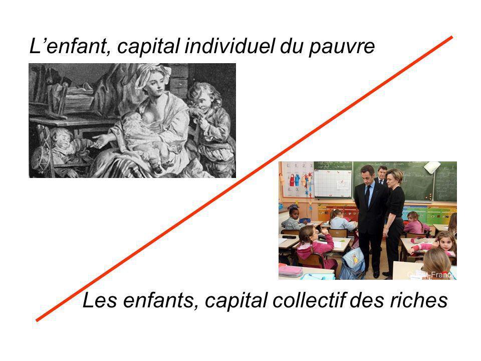 Lenfant, capital individuel du pauvre Les enfants, capital collectif des riches