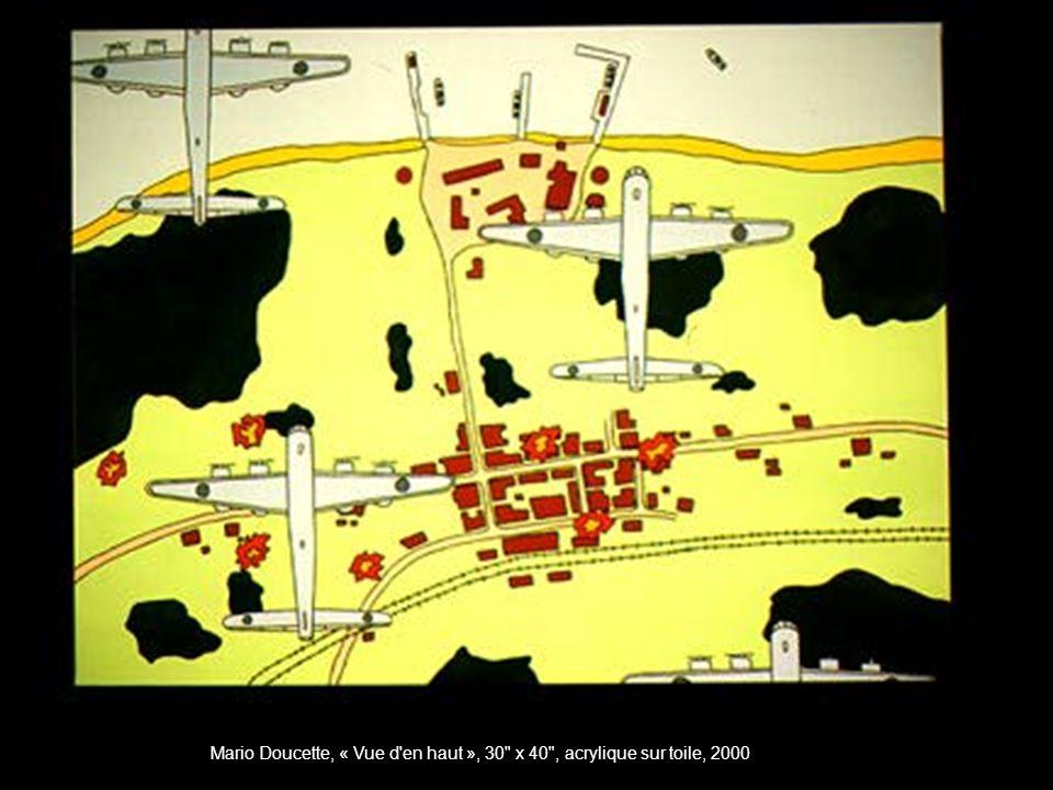 Mario Doucette, « Vue d en haut », 30 x 40 , acrylique sur toile, 2000