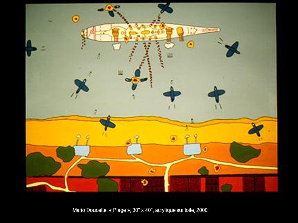 Mario Doucette, « Plage », 30 x 40 , acrylique sur toile, 2000