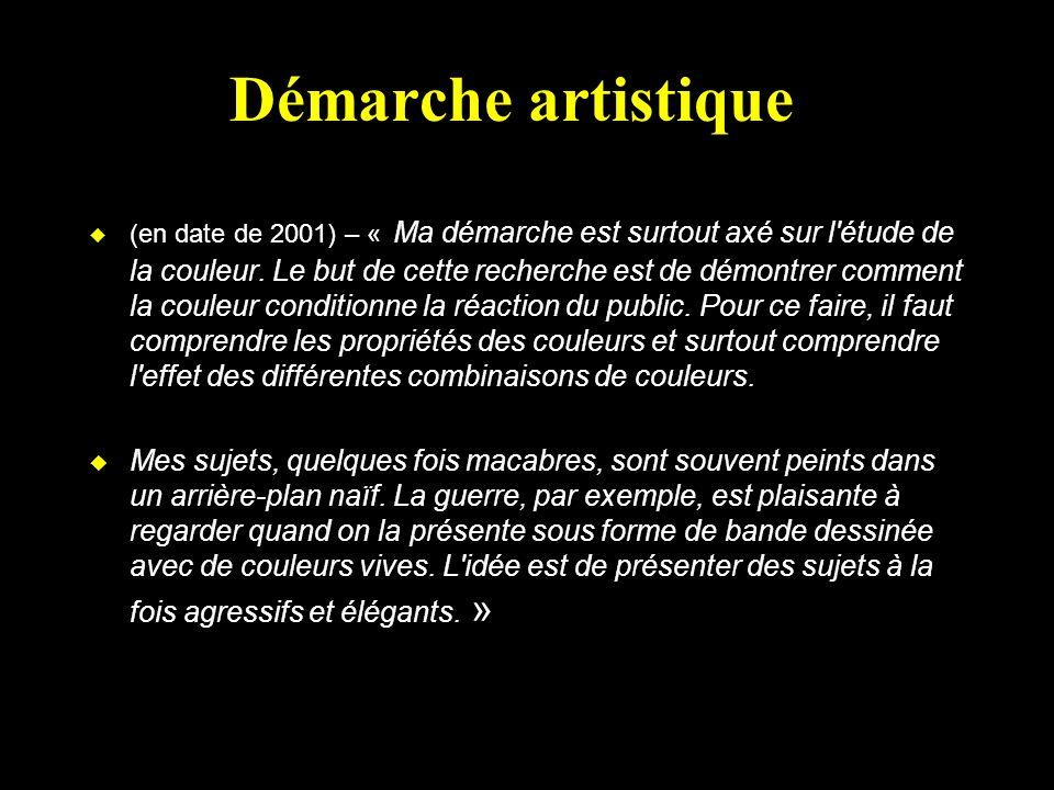 Démarche artistique u (en date de 2001) – « Ma démarche est surtout axé sur l étude de la couleur.