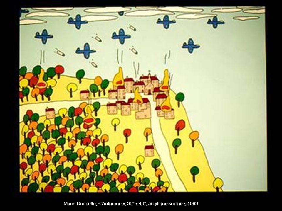 Mario Doucette, « Automne », 30 x 40 , acrylique sur toile, 1999