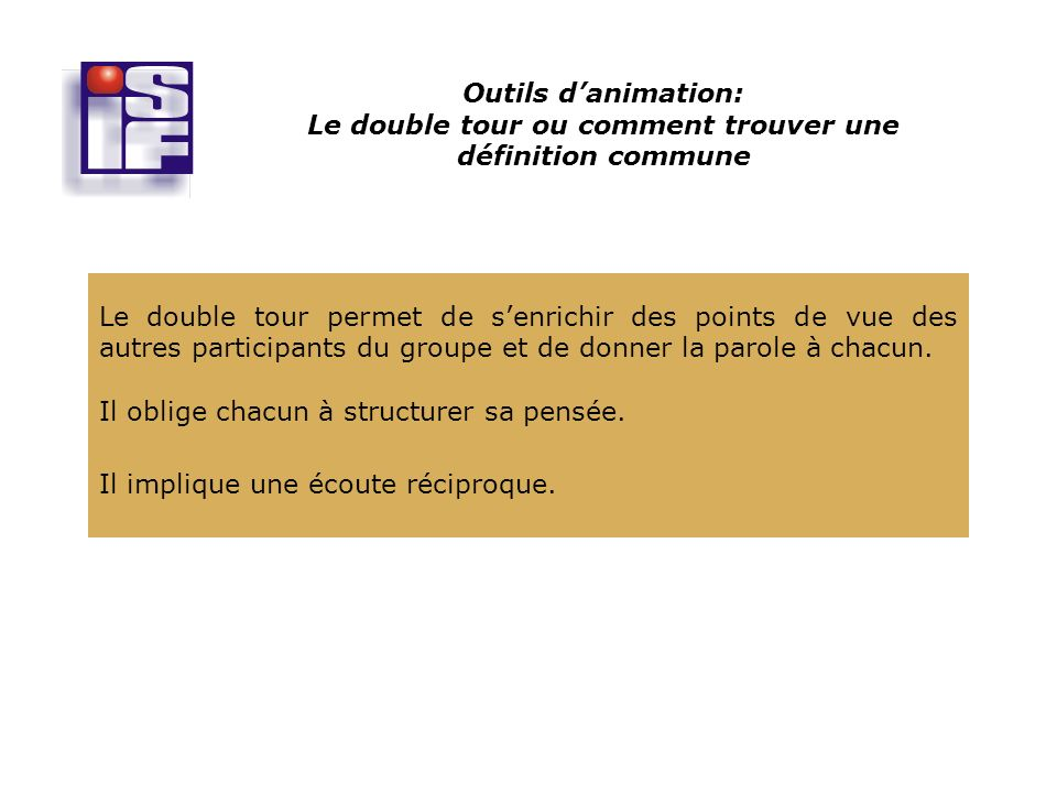 Outils danimation: Le double tour ou comment trouver une définition commune ...
