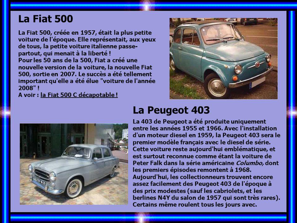 Allez les Filles… La Coccinelle C'est dans les années 50 et 60 que la Coccinelle de Volkswagen, première voiture de la marque, commence à connaître ré