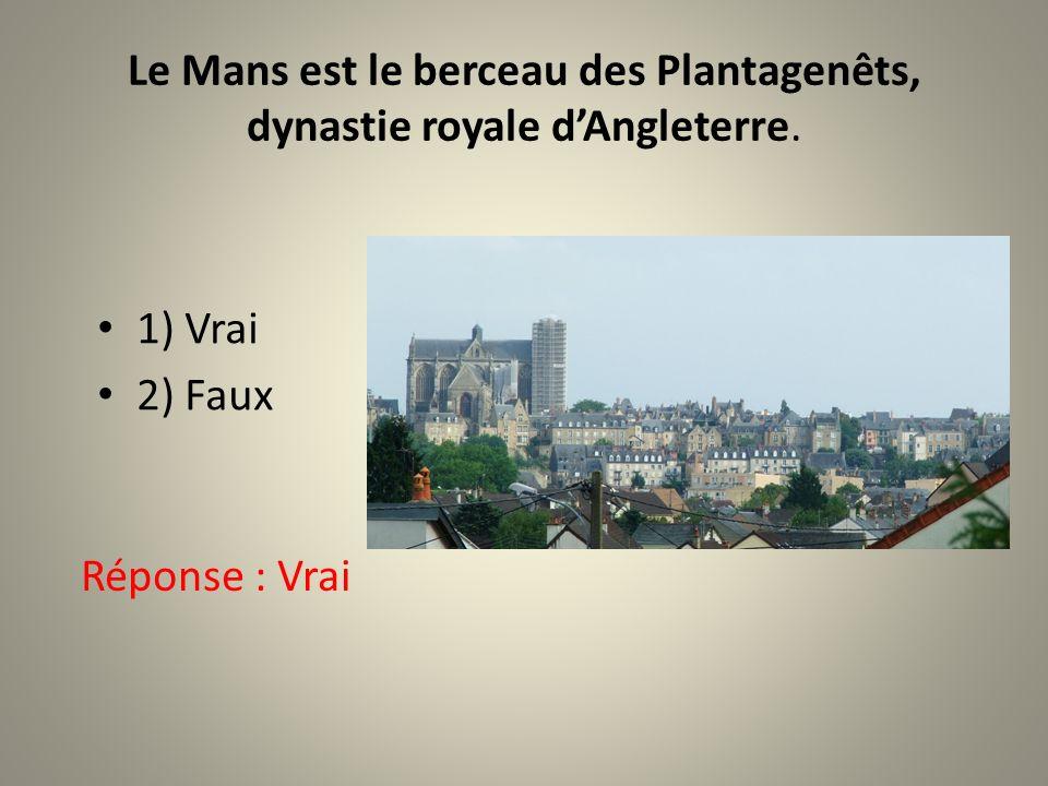 Le Mans est le berceau des Plantagenêts, dynastie royale dAngleterre.